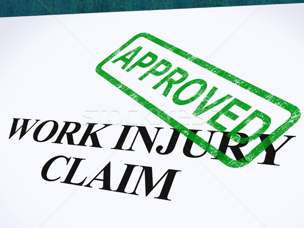 Work Injury Claim Approved Shows Medical Expenses Repaid Stock photo © stuartmiles