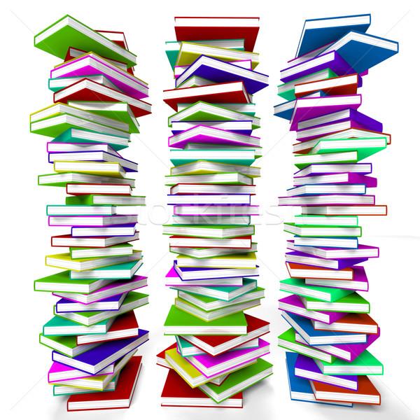 Könyvek tanul oktatás tanulás információ Stock fotó © stuartmiles