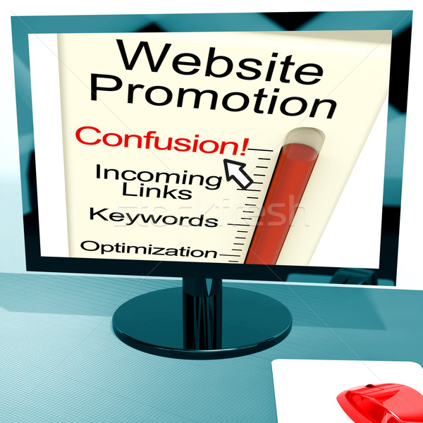 Stock photo: Website Promotion Confusion Shows Online SEO Strategy
