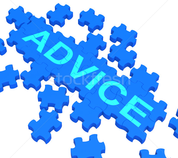 Advice Puzzle Showing Guidance And Support Stock photo © stuartmiles