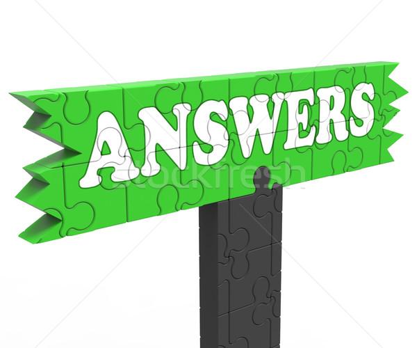 Informatie probleem vraag tonen kennis Stockfoto © stuartmiles