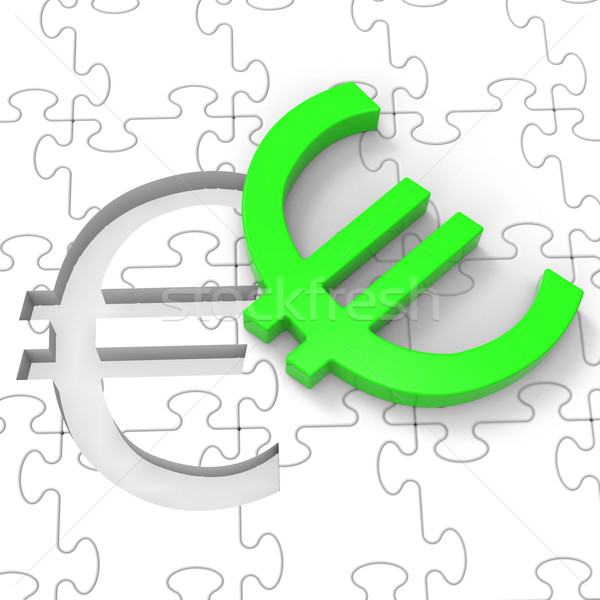 Zdjęcia stock: Euro · puzzle · europejski · inwestycje · oszczędności
