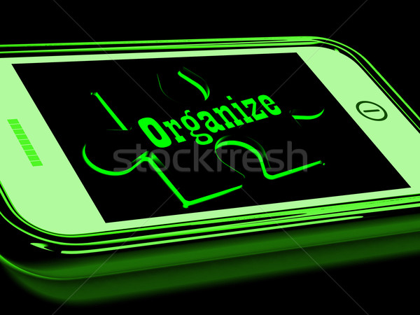 Organize On Smartphone Shows Contacts Organizing Stock photo © stuartmiles