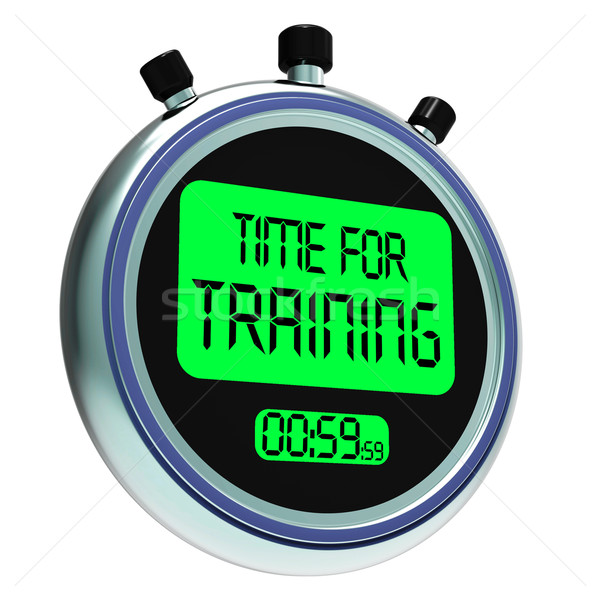 Time For Training Message Shows Coaching And Instructing Stock photo © stuartmiles
