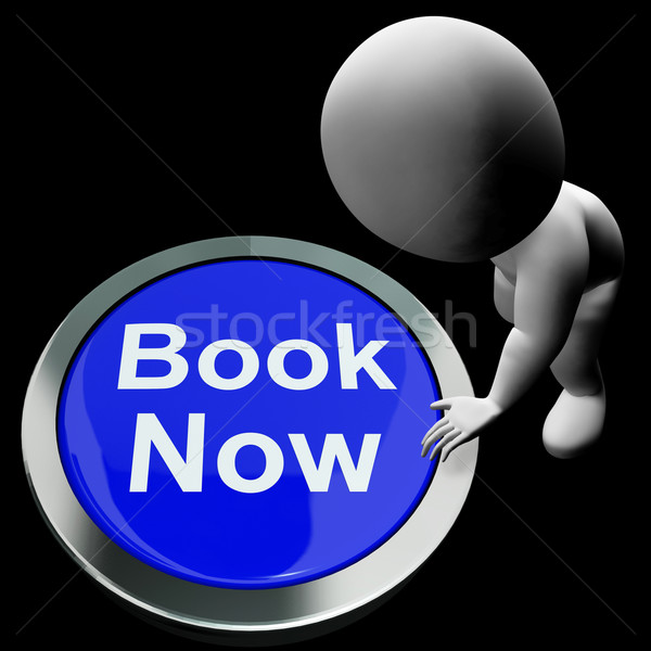 Blue Book Now Button For Hotel Or Flights Reservation Stock photo © stuartmiles