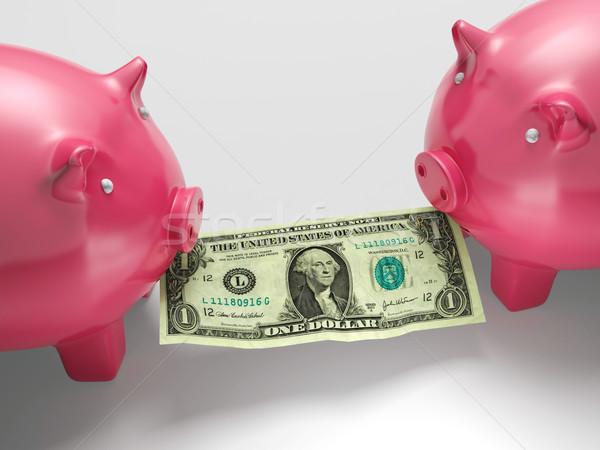 Mangiare soldi crisi finanziaria monetaria frode finanziare Foto d'archivio © stuartmiles