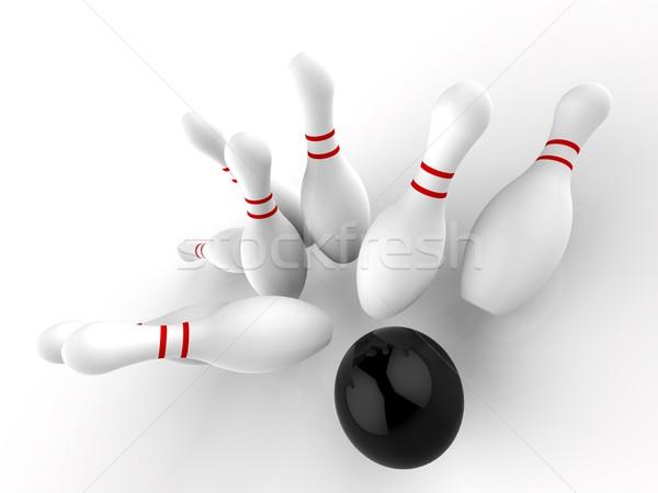 Boliche greve vitória jogo dez pin Foto stock © stuartmiles