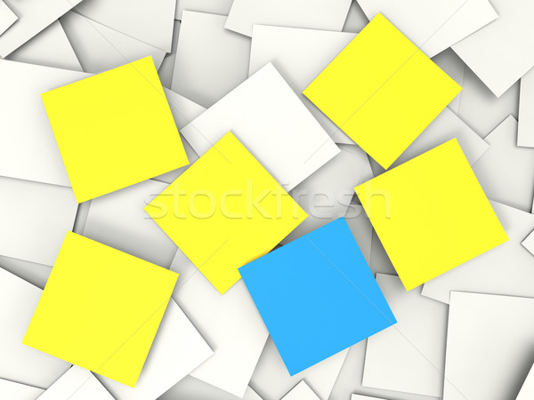 Blank Postit Notes Shows Copyspace Memos And Notices Stock photo © stuartmiles