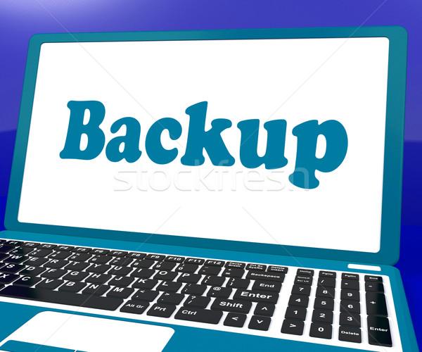Biztonsági mentés laptop hát felfelé raktár mutat Stock fotó © stuartmiles