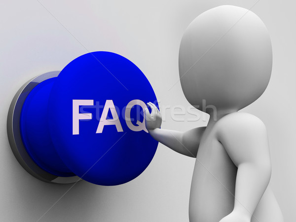 FAQ Button Shows Website Questions And Assistance Stock photo © stuartmiles