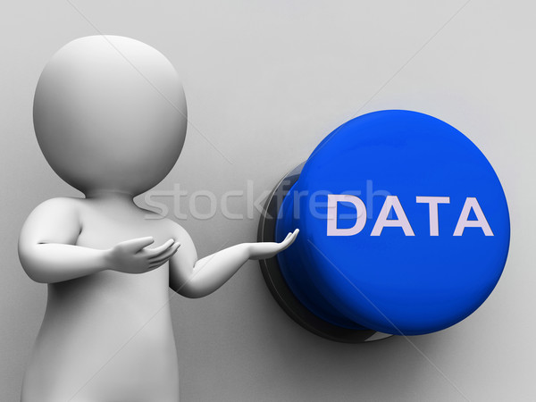 Data Button Shows Documents Files And Archives Stock photo © stuartmiles