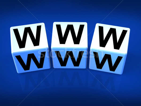 Www blokken world wide web web scherm Stockfoto © stuartmiles
