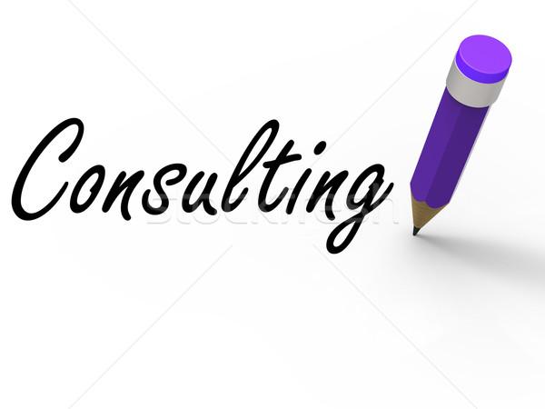 Consulenza matita scritto consultazione consiglio Foto d'archivio © stuartmiles