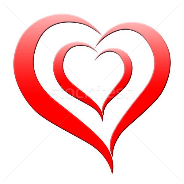 Rosso cuore passione amour significato Foto d'archivio © stuartmiles