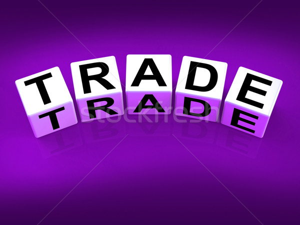 Trade Blocks Show Trading Forex Commerce and Industry Stock photo © stuartmiles