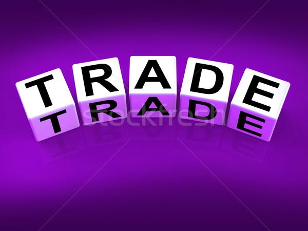 Handel blokken show handel forex commerce Stockfoto © stuartmiles