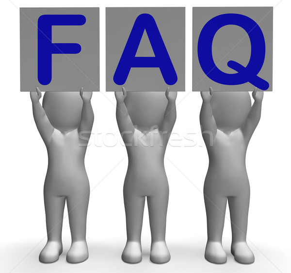 FAQ Banners Shows Frequent Assistance And Support Stock photo © stuartmiles
