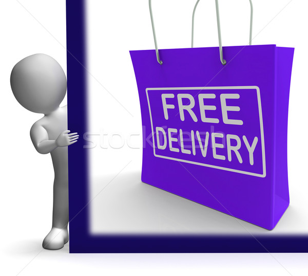 Free Delivery Shopping Sign Showing No Charge Or Gratis To Deliv Stock photo © stuartmiles
