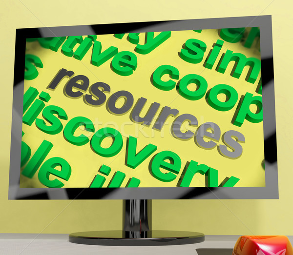 Resources Word Screen Shows Funds Assets And Supplies Stock photo © stuartmiles