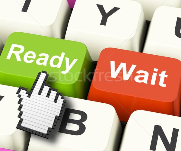 Pronto preparado computador teclas conjunto Foto stock © stuartmiles