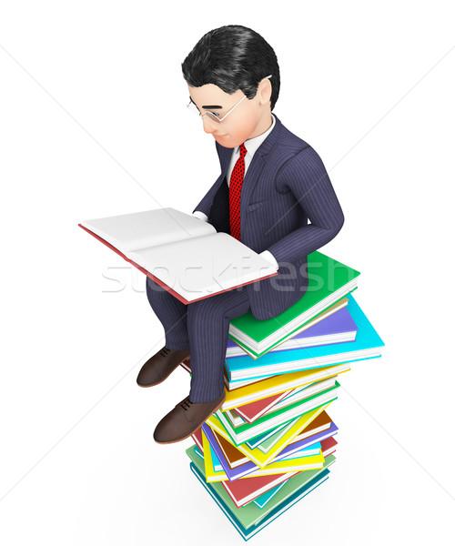 üzletember olvas könyvek gyik tanult üzletemberek Stock fotó © stuartmiles