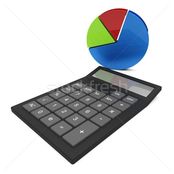 Kördiagram számítás pénzügyi beszámoló számít haladás jelentés Stock fotó © stuartmiles