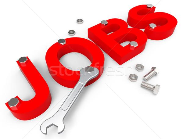 Stock fotó: állások · szó · engem · karrier · mutat · munka