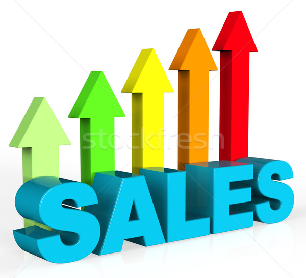 Increase Sales Shows Success Trading And Improvement Stock photo © stuartmiles