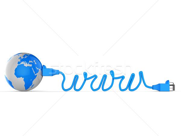 Worldwide Web Represents Computer Network And Communication Stock photo © stuartmiles