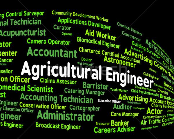 Agrícola engenheiro trabalhar posição ocupação Foto stock © stuartmiles