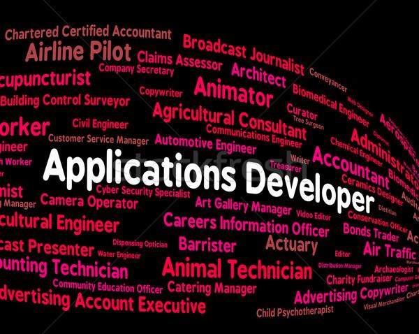 Toepassingen ontwikkelaar programma carriere woorden werk Stockfoto © stuartmiles