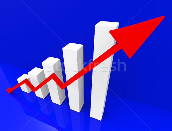 Graph Increasing Shows Financial Report And Advance Stock photo © stuartmiles