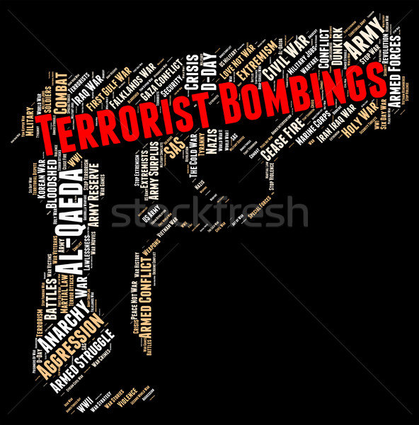 Terrorist Bombings Represents Freedom Fighter And Assassin Stock photo © stuartmiles