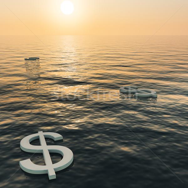 Dollari tramonto soldi abbondanza Foto d'archivio © stuartmiles