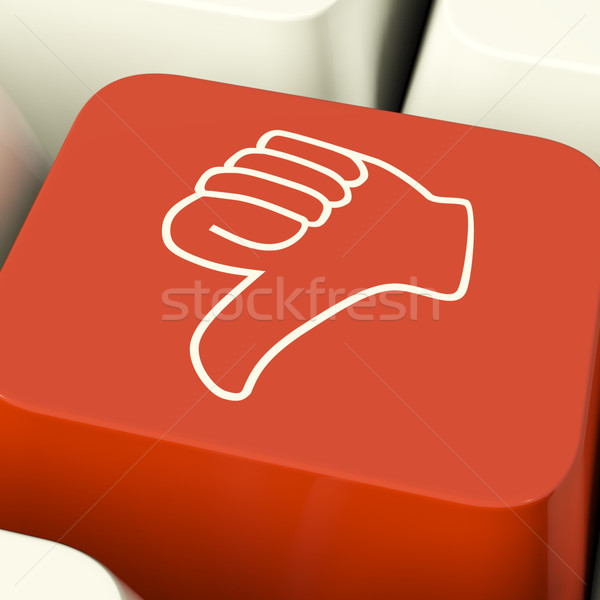 Thumbs Down Icon Computer Key Showing Dislike Failure And False Stock photo © stuartmiles