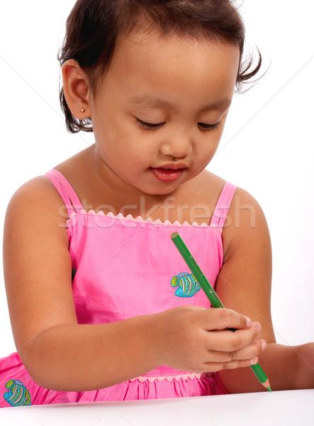 Young Kid Enjoying Drawing Stock photo © stuartmiles