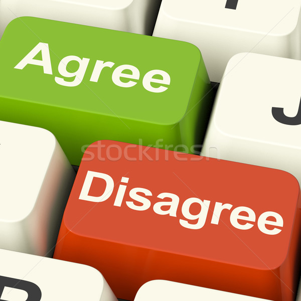 Disagree And Agree Keys For Online Poll Or Voting Stock photo © stuartmiles