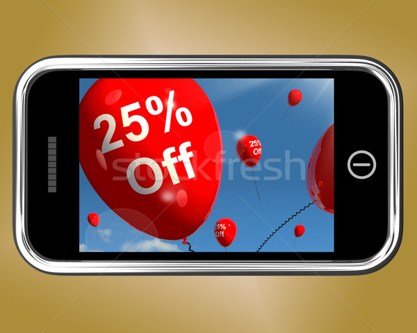 Mobile With 25% Off Sale Discount Balloon Stock photo © stuartmiles