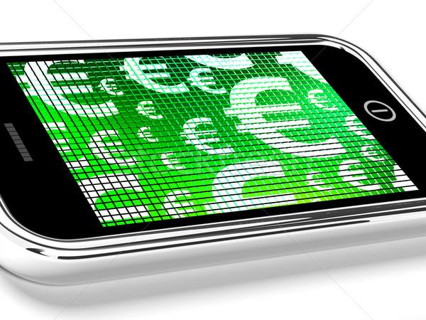 Сток-фото: евро · мобильных · экране · шоу · деньги
