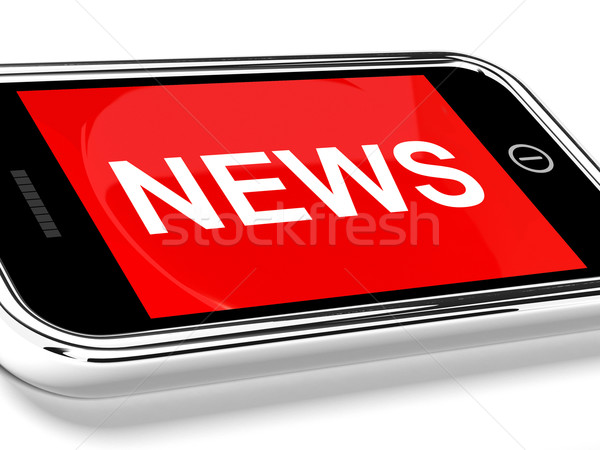 News Headline On Mobile Phone For Online Information Or Media Stock photo © stuartmiles