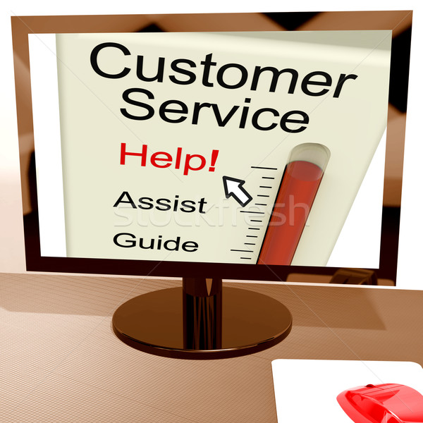 Customer Service Help Meter Shows Assistance And Support Online Stock photo © stuartmiles