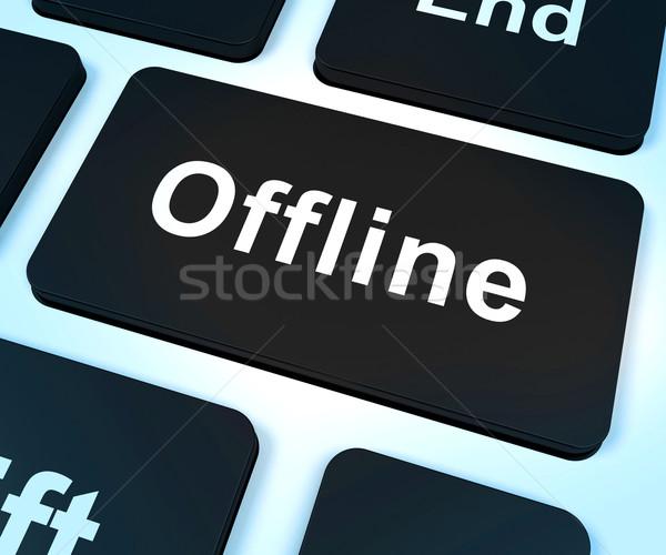 Offline Key Shows Internet Communication Status Disconnected Stock photo © stuartmiles