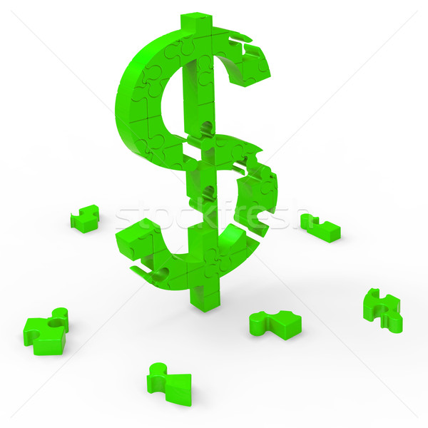 Stock photo: Dollar Symbol Means Currency Wealth And Banking