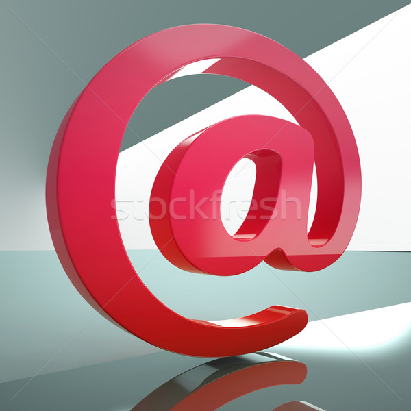 At Sign Means E-mail Symbol For Message Stock photo © stuartmiles