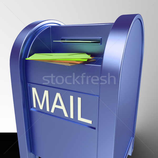 Mail On Mailbox Showing Delivered Correspondence Stock photo © stuartmiles