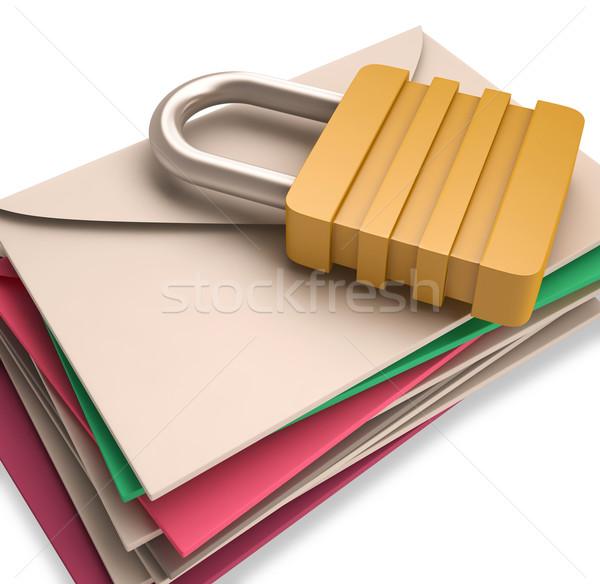 Lock lettres bureau de poste sécurité Photo stock © stuartmiles