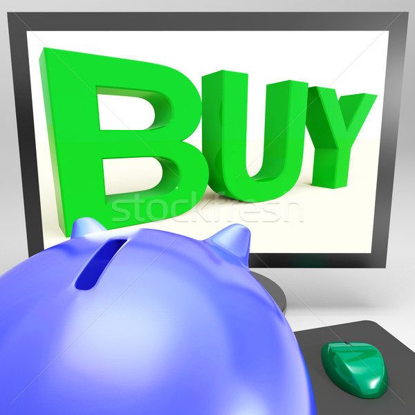 Buy On Monitor Shows Shopping Stock photo © stuartmiles