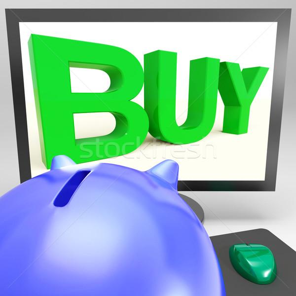 Buy On Monitor Shows Shopping Stock photo © stuartmiles