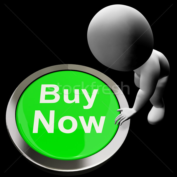 Stock photo: Buy Now Button Shows Purchasing And Online Shopping