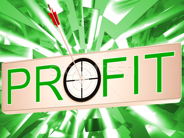 Profit Means Earning Revenue And Business Growth Stock photo © stuartmiles